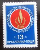 Poštovní známka Bulharsko 1973 Lidská práva Mi# 2279