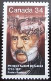 Poštovní známka Kanada 1986 Philippe Aubert de Gaspe, spisovatel Mi# 993