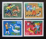 Poštovní známky Německo 1972 Ochrana zvířat Mi# 711-14