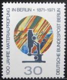 Poštovní známka Západní Berlín 1971 Testovací laboratoř Mi# 416