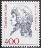 Poštovní známka Německo 1992 Charlotte von Stein, přítelkyně Goetheho Mi# 1582