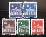 Poštovní známky Západní Berlín 1966-67 Brandenburská brána Mi# 286-90