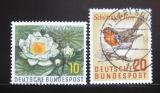 Poštovní známky Německo 1957 Fauna a flóra Mi# 274-75