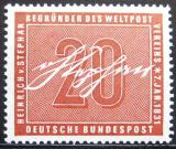 Poštovní známka Německo 1956 Heinrich von Stephan Mi# 227 Kat 8€