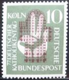 Poštovní známka Německo 1956 Setkání katolíků Mi# 239