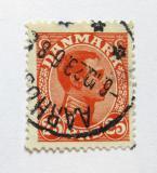 Poštovní známka Dánsko 1922 Král Christian X. Mi# 122