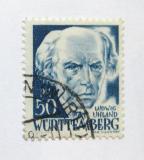 Poštovní známka Wurttemberg 1948 Ludwig Uhland Mi# 24