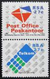 Poštovní známky JAR 1991 Vytvoření jihoafrické pošty Mi# 823-24