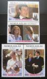 Poštovní známky Tuvalu Nukulaelae 1986 Královská svatba Mi# 96-99
