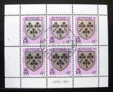 Poštovní známky Jersey 1987 Rodinný erb Payn, ze sešitku