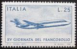 Poštovní známka Itálie 1973 Den známek, letadlo Mi# 1431