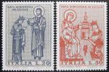 Poštovní známky Itálie 1974 Normanské umění Mi# 1435-36