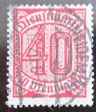 Poštovní známka Německo 1920 Nominální hodnota, služební Mi# 28
