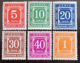 Poštovní známky Keňa 1969-70 Nominální hodnoty, doplatní SC# J1-7a