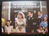 Poštovní známka Montserrat 1986 Královská svatba Mi# Block 37