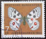 Poštovní známka Německo 1962 Motýl Mi# 376