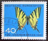 Poštovní známka Německo 1962 Motýl Mi# 379