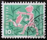Poštovní známka Švýcarsko 1962 Chlapec a kachna Mi# 759