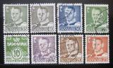 Poštovní známky Dánsko 1950-51 Král Frederik IX SC# 318-24,26