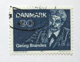 Poštovní známka Dánsko 1971 Georg Brandes Mi# 518