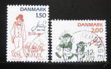 Poštovní známky Dánsko 1982 Karikatury Mi# 764-65