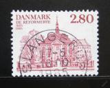 Poštovní známka Dánsko 1985 Reformní kostel Mi# 828