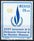 Poštovní známka Mexiko 1983 Lidská práva Mi# 1884