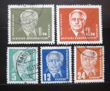 Poštovní známky DDR 1950-51 Prezident Pieck Mi# 251-55
