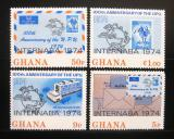 Poštovní známky Ghana 1974 INTERNABA výstava Mi# 556-59