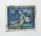 Poštovní známka DDR 1951 Den známek Mi# 295
