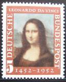 Poštovní známka Německo 1952 Mona Lisa Mi# 148