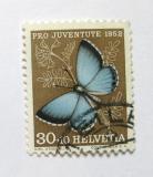 Poštovní známka Švýcarsko 1952 Motýl Mi# 578 Kat 10€