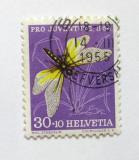 Poštovní známka Švýcarsko 1954 Motýl Mi# 605 Kat 8.50€