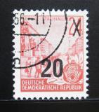 Poštovní známka DDR 1954 Pětiletka přetisk Mi# 439