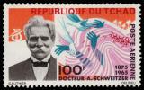 Poštovní známka Čad 1966 Albert Schweitzer Mi# 148