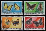 Poštovní známky Čad 1967 Motýli Mi# 174-77 Kat 32€