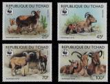 Poštovní známky Čad 1988 Paovce hřívnatá Mi# 1171-74 Kat 16€