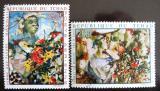 Poštovní známky Čad 1970 Umění Mi# 321-22