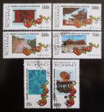 Poštovní známky Čad 2000 Rok draka Mi# 1987-92 Kat 12€