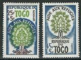 Poštovní známky Togo 1960 Rok uprchlíků Mi# 283-84