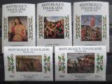 Poštovní známky Togo 1985 Umění, Raffael, velikonoce Mi# 1850-54