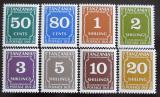 Poštovní známky Tanzánie 1990 Doplatní Mi# 30-37