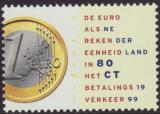 Poštovní známka Nizozemí 1999 Uvedení Eura Mi# 1704