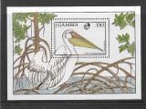 Poštovní známka Gambie 1988 Pelikán Mi# Block 44