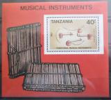 Poštovní známka Tanzánie 1989 Hudební nástroje Mi# Block 92