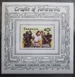 Poštovní známka Tanzánie 1987 Řemeslné umění Mi# Block 68