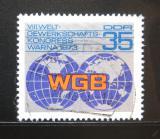 Poštovní známka DDR 1973 Odborářský kongres Mi# 1885