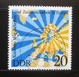 Poštovní známka DDR 1975 Mapa Evropy Mi# 2069