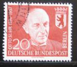 Poštovní známka Západní Berlín 1958 Prof. Otto Suhr, starosta Berlína Mi# 181