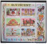 Poštovní známky Svatý Vincenc 1975 Karneval Mi# Block 4